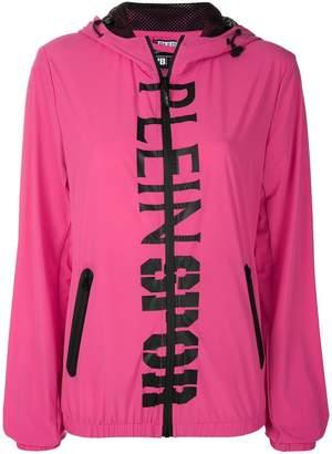 Plein Sport logo hooded jacket