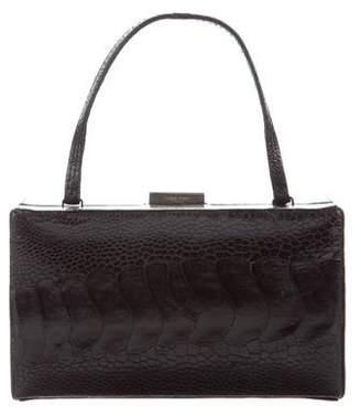 Calvin Klein Collection Ostrich Leg Box Bag