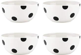 Kate Spade Deco Dot Set of 4 Appetizer Bowls
