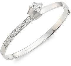 Carelle Women's Knot Diamond & 18K White Gold Bangle