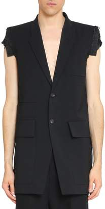 Rick Owens Sleeveless Wool Blazer