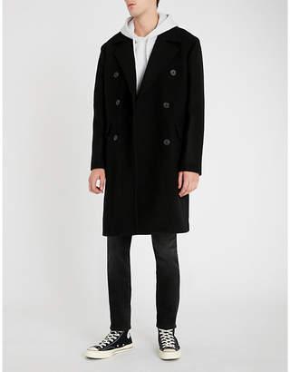 The Kooples Double-breasted notch-lapel wool coat