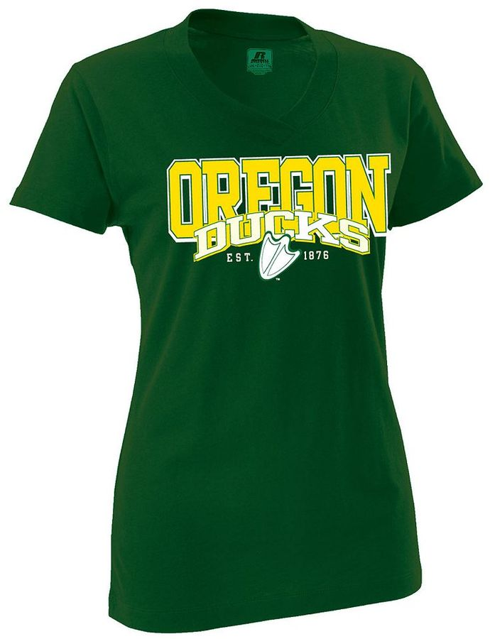 Russell Athletic oregon ducks slubbed tee - women