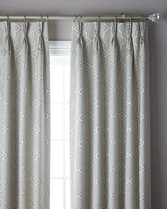 Thomas Laboratories Misti Modern Luxuries 3-Fold Pinch Pleat Trellis Curtain, 132""