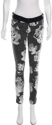 Hudson Printed Mid-Rise Jeans
