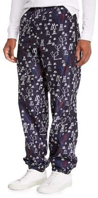 Moncler Men's Pop Print Nylon Athletic Pants