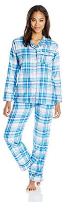 Bottoms Out Women's Flannel Printed Pajama Set