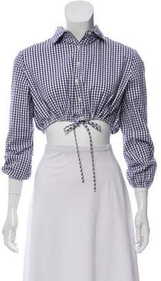 Lisa Marie Fernandez Gingham Crop Top