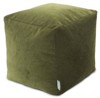 Majestic Home Goods Villa Indoor Ottoman Pouf Cube