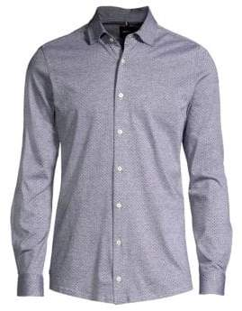 Strellson Carson Polka Dot Button-Down Shirt