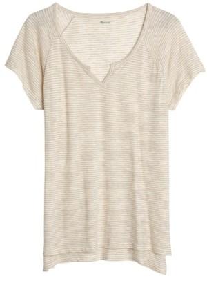 Women's Madewell Brea Split Neck Tee $42 thestylecure.com