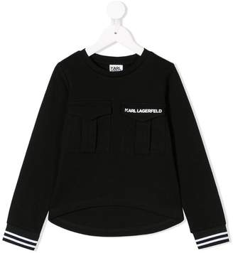 Karl Lagerfeld Paris chest pocket sweatshirt
