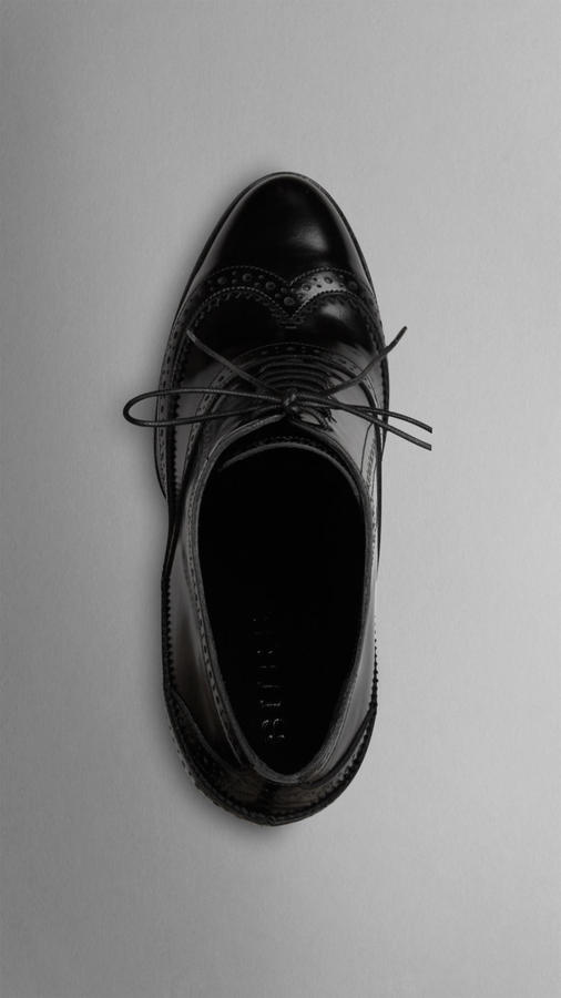 Burberry Brogue Platform Ankle Boots