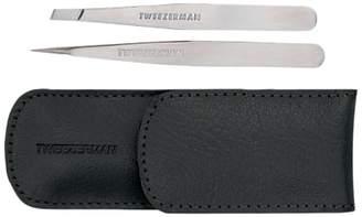 Tweezerman Petite Tweeze Leather Case Set, Black