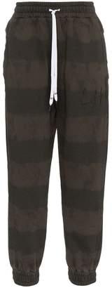 Liam Hodges bleached stripe cotton sweat pants