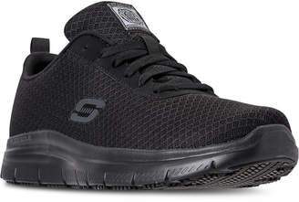Skechers Men Work Relaxed Fit: Flex Advantage - Bendon Sr Slip Resistant Athletic Sneakers from Finish Line