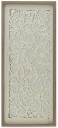 "Jla Home Harbor House Lattice Maze 40"" x 18"" Rice Paper Framed Wall Art"