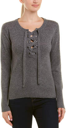 Qi Lace Up Cashmere Sweater
