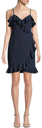 Trina Turk Reese Ruffle-Trim Sleeveless Dress
