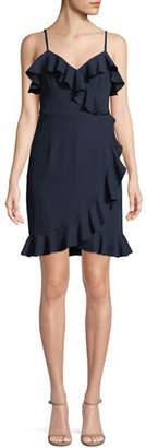 Trina Turk Reese Ruffle-Trim Sleeveless Dress