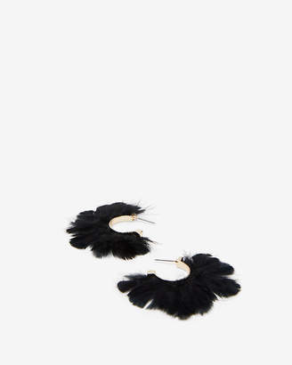 Express Small Feather Hoop Earrings