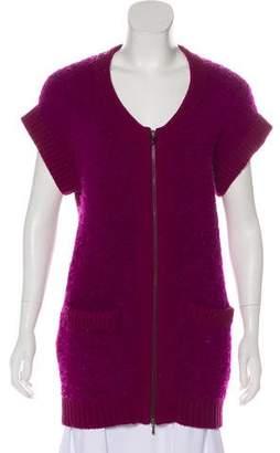 3.1 Phillip Lim Wool Sleeveless Cardigan Top