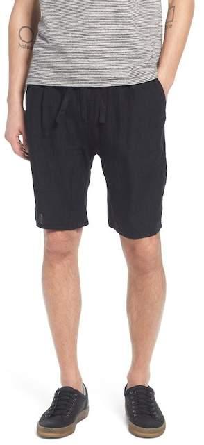 Treasure & Bond Pleat Tie Waist Linen Shorts