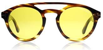 Tom Ford Clint FT 537 048E Havana / Yellow Sunglasses