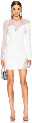 Cushnie Fragmented Mini Dress in Pearl Grey   FWRD