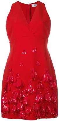 MSGM V-neck embellished dress