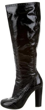 Miu MiuMiu Miu Patent Leather Brogue Boots