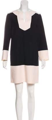 Michael Kors Wool Long Sleeve Mini Dress
