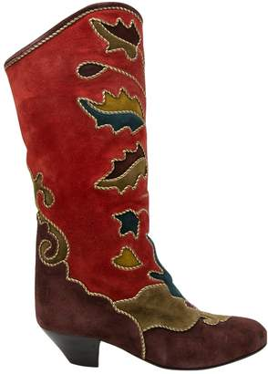 Andrea Pfister Vintage Red Suede Boots