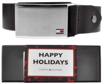 Tommy Hilfiger Plaque Belt Gift Set Black