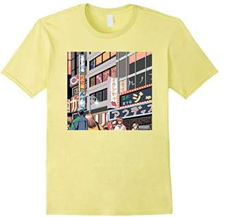 Neon Night Tokyo Japan Neon Signs Anime 8-Bit City T-Shirt
