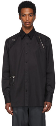 Alexander McQueen Black Zip Detail Harness Shirt