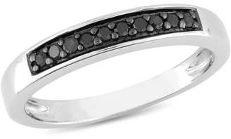 Black Diamond Asteria 1/10 Carat T.W. Sterling Silver Wedding Band