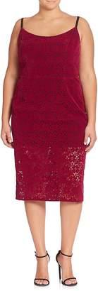 ABS by Allen Schwartz Women's Floral Lace Sheath Dress