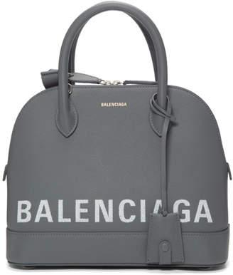 Balenciaga Grey Small Ville Top Handle Bag