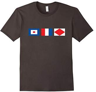 Signal flag funny sailing t-shirt Whiskey Tango Foxtrot