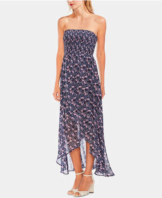 04e763eece2 Vince Camuto Strapless Smocked Bodice Maxi Dress
