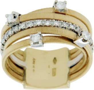 Marco Bicego 18K Yellow & White Gold 0.25ct Diamond Wedding Ring Size 5