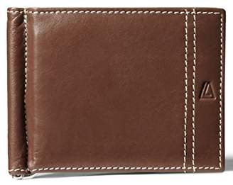 Leather Architect Men's 100% Leather Bifold Top Flip RFID Blocking Wallet with Money Clip