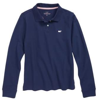 Vineyard Vines Long Sleeve Pique Polo