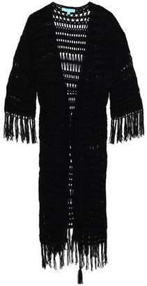 Melissa Odabash Fringed Crochet-Knit Coverup