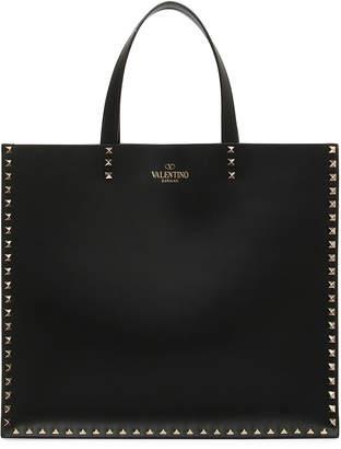 Valentino Rockstud Leather Tote Bag