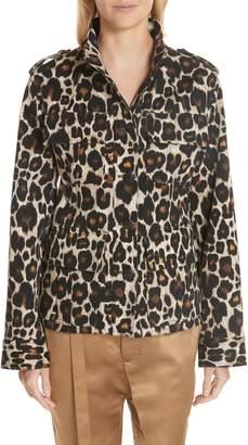 Robert Rodriguez Leopard Print Jacket