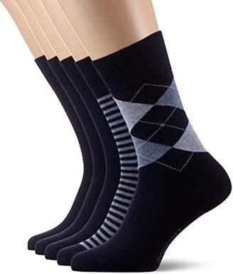 801bc9e39a Schiesser Men's Cotton Fit 5er Pack Herrensocken (5PACK) Socks,(Size of :