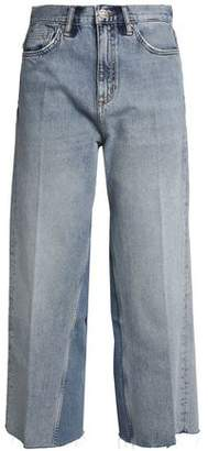 MiH Jeans Cropped Paneled High-rise Wide-leg Jeans