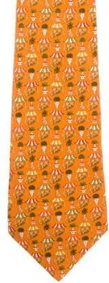 Salvatore Ferragamo Silk Abstract Print Tie